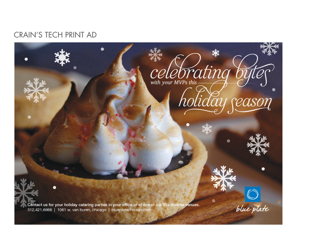 Blue Plate Catering Holiday Ads - Sarah Lee